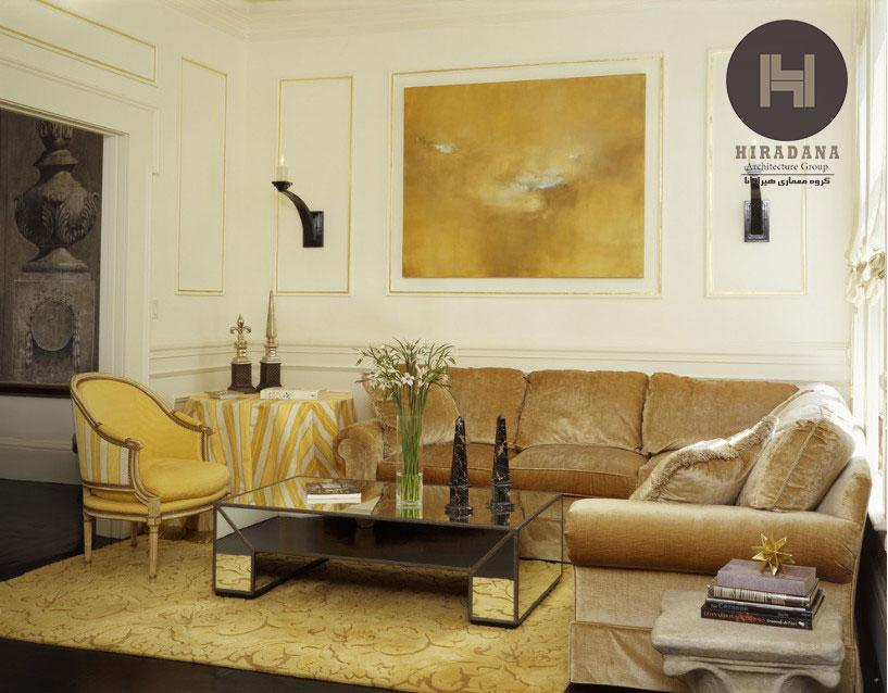 دکوراسیون داخلی رنگ طلایی