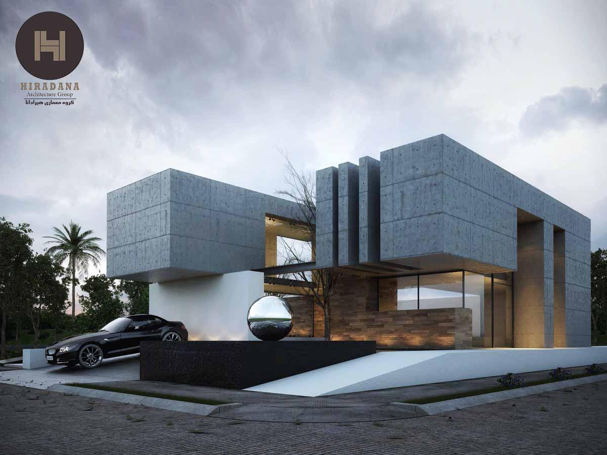 طراحی و اجرای نمای ویلا در ارومیه