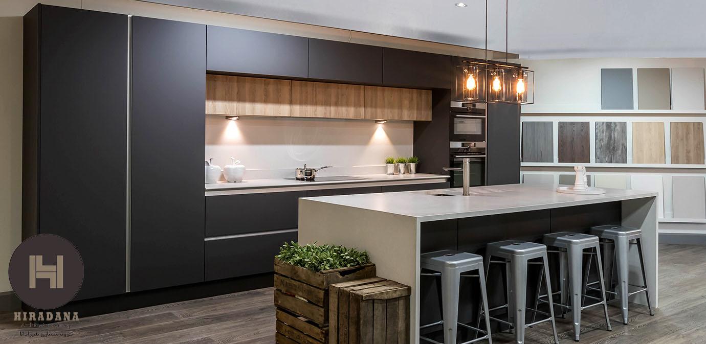 طراحی آشپزخانه به سبک مدرن و ویژگی های آن