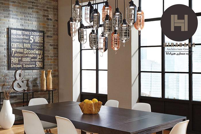 چگونه سالن ناهارخوری خود را نورپردازی کنیم