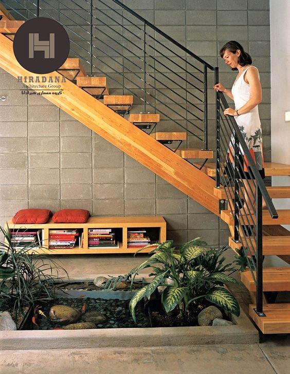 طراحی دکوراسیون زیر پله ها