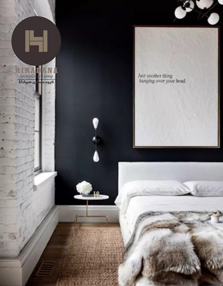 طراحی دکوراسیون داخلی و دیوار های دو رنگ در خانه