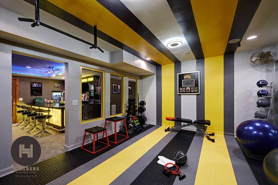 طراحی دکوراسیون باشگاه و فضای ورزشی خانگی