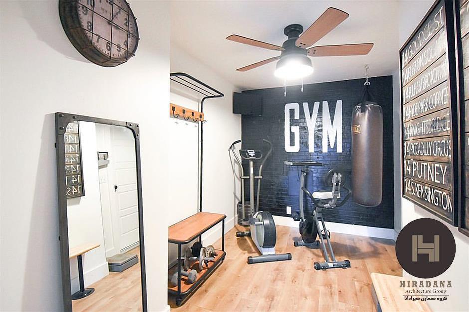 طراحی داخلی اتاق ورزش خانگی یا باشگاه خانگی