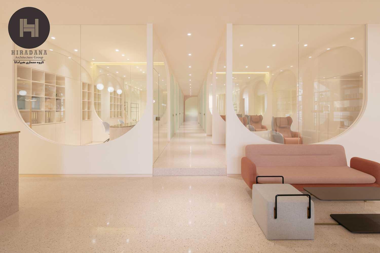 طراحی داخلی سالن زیبائی زنانه