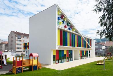 طراحی نمای ساختمان مهد کودک