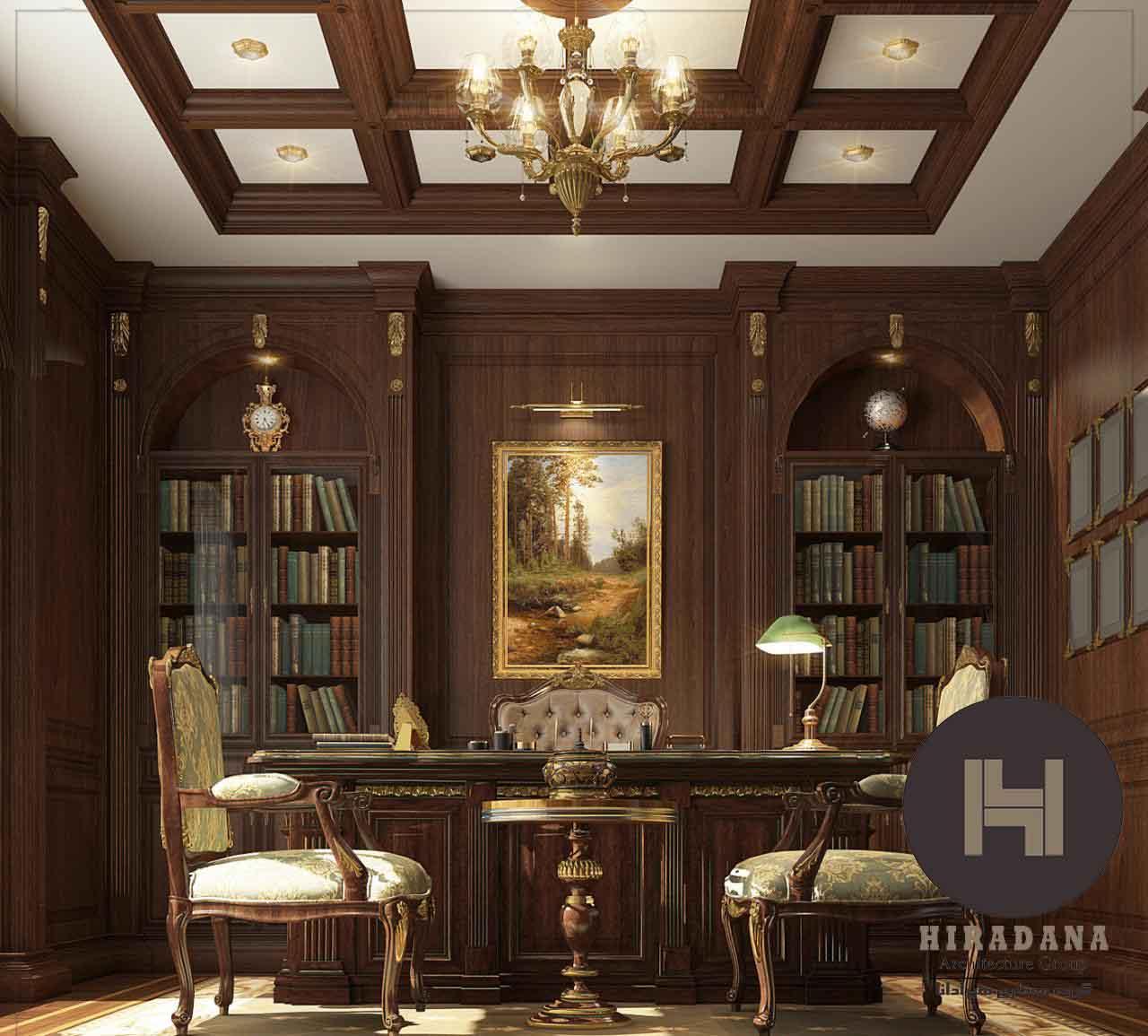 طراحی دکوراسیون اداری با سبک کلاسیک
