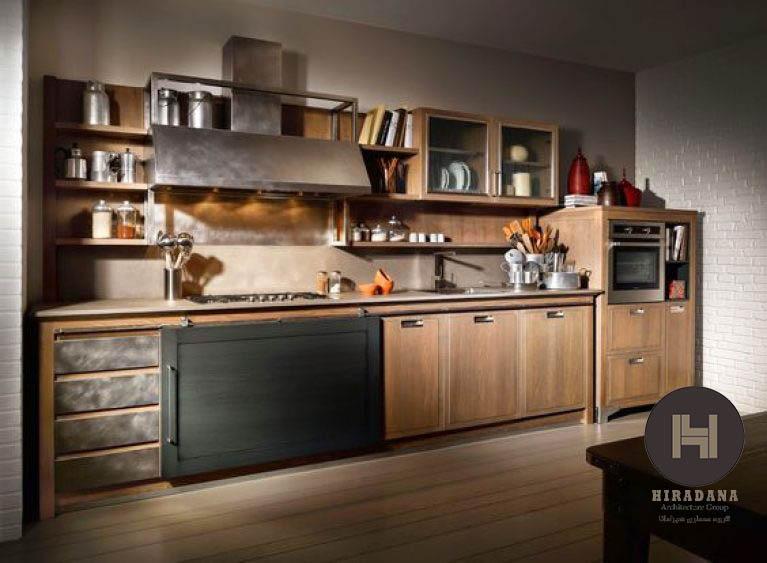 طراحی دکوراسیون آشپزخانه به سبک صنعتی