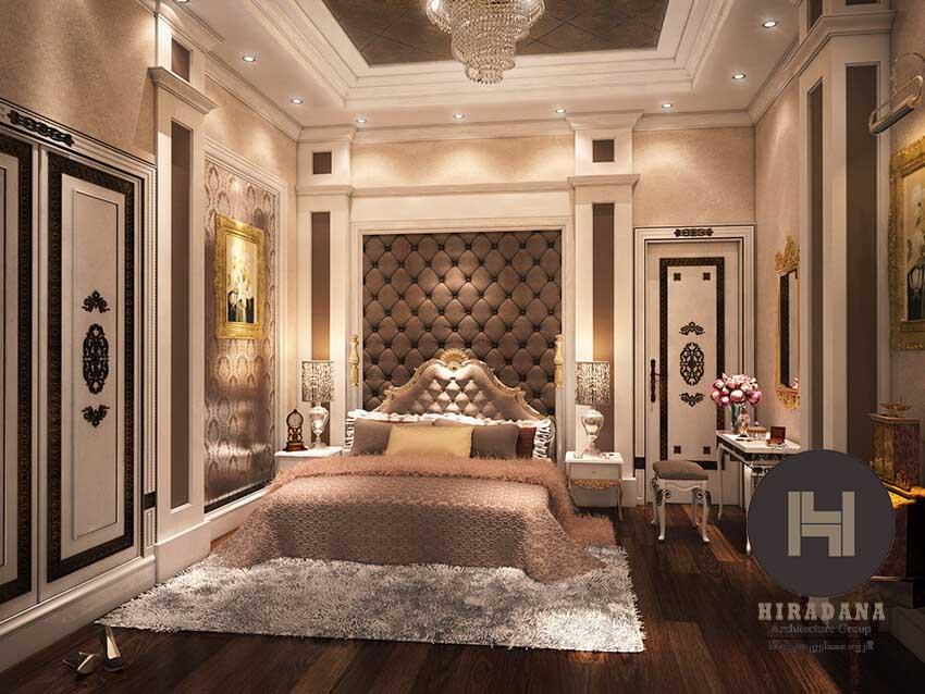 طراحی داخلی اتاق خواب با سبک کلاسیک