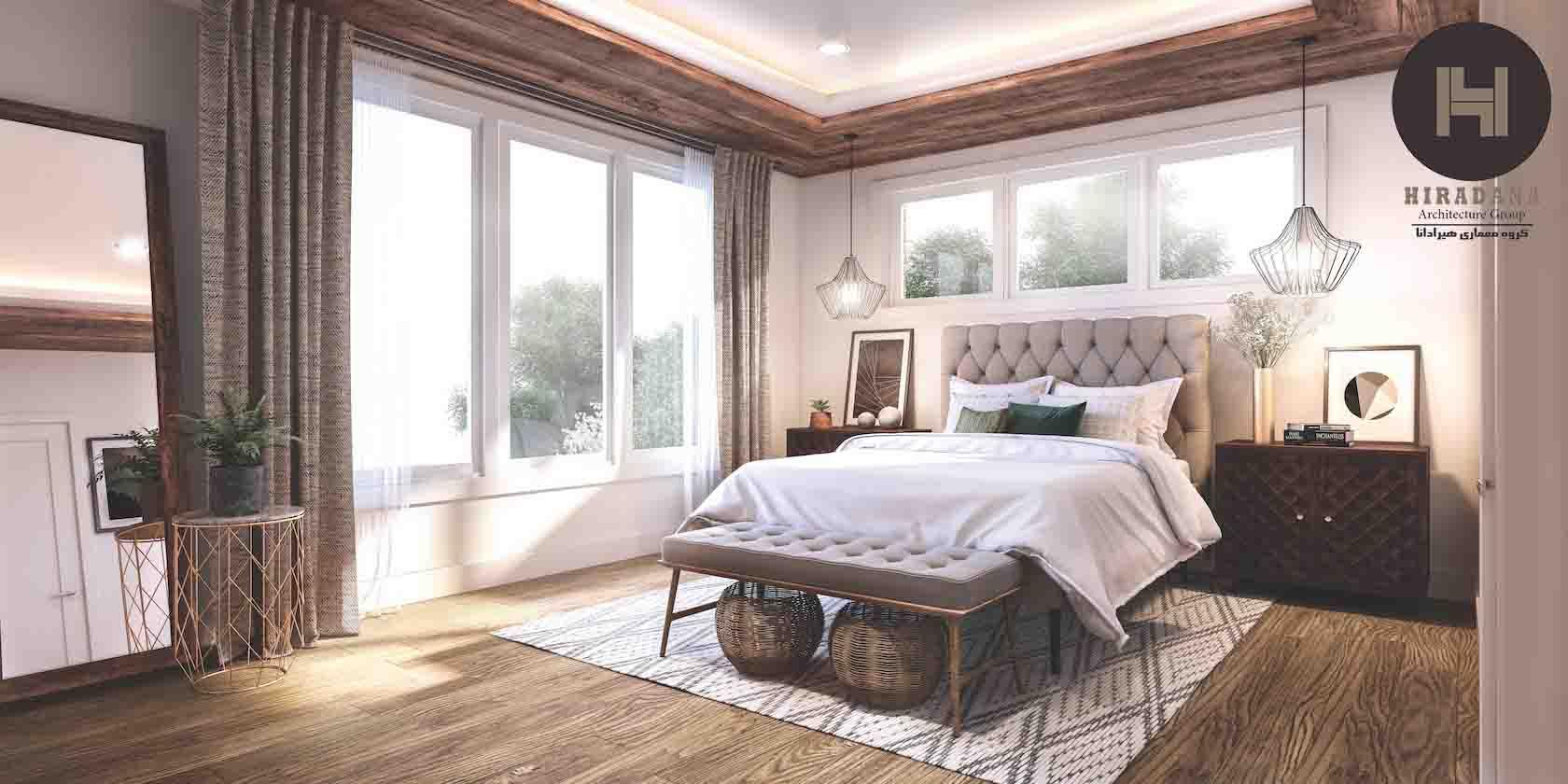 طراحی داخلی اتاق خواب با اصول هفت گانه فنگ شویی