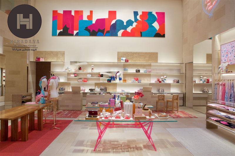 طراحی عجیب و متفاوت فروشگاه برند لویی ویتون